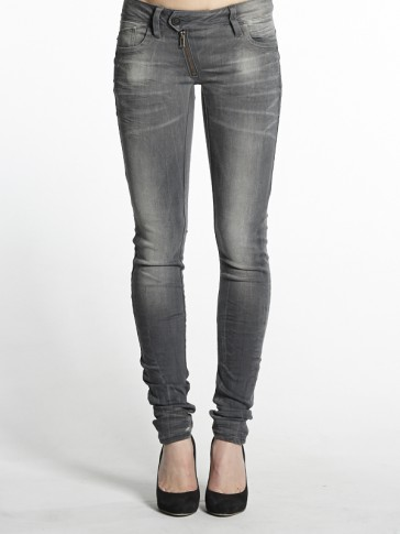 LYNN ZIP SKINNY-SLANDER GREY SUPERS-MEDIUM AGED