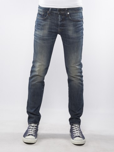 3301 SLIM-BLUE  DELM STRETCH-DK AGED ANTIC