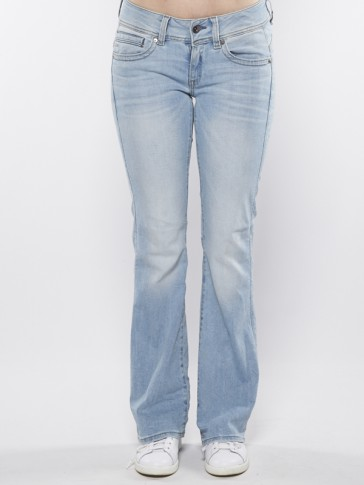 MIDGE SADDLE BOOTLEG-BRANTLEY STRETCH DENIM-LT AGE