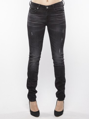 3301 HIGH SKINNY-TOWI BLACK STRETCH DENIM-MEDIUM A
