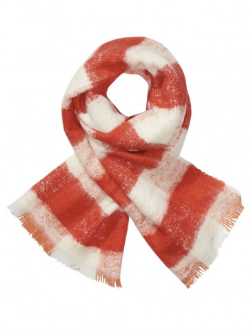 FLUFFY CHECKED WOOL SCARF 134221