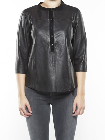 SOFT LEATHER TUNIC TOP 101932