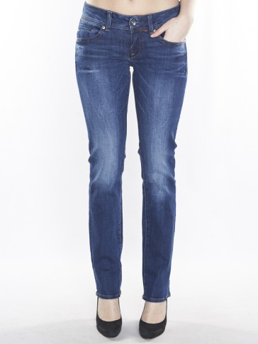MIDGE SADDLE MID STRAIGHT-YZZI STRETCH DENIM-MEDIU