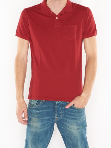 AMS BLAUW CLASSIC GARMENT DYED POLO 137773