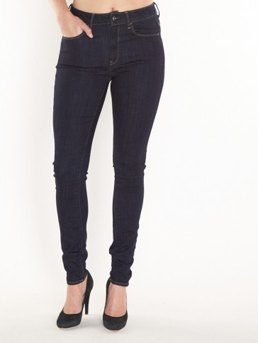 3301 DECONST HIGH SKINNY-TRENDER ULTIMATE STRETCH DENIM-RINSED