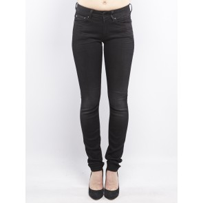 3301 CONTOUR HIGH SKINNY-SLANDER BLACK SUPERSTRETC