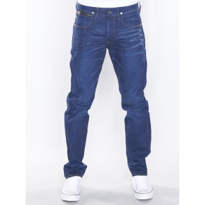 HEDROVE TAPERED-ITANO STRETCH DENIM-MEDIUM AGED