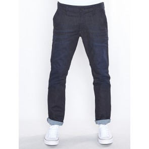 BRISTUM SLIM CHINO-VISOR STRETCH DENIM-DK AGED