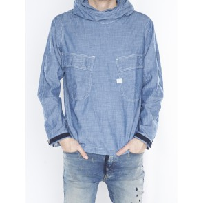 CHAMBRAY PW HOODED JACKET D05695-6765-082