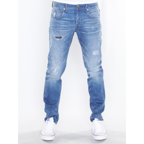 3301 SLIM-ITANO STRETCH DENIM-MEDIUM INDIGO AGED