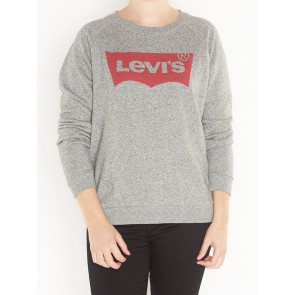 RELAXED GRAPHIC CREW-FLEECE BATWING