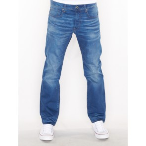 3301 STRAIGHT-ITANO STRETCH DENIM-MEDIUM VINTAGE AGED