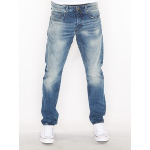 3301 TAPERED-HIGA DENIM-MEDIUM AGED