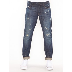 3301 TAPERED-SIL DENIM-DK AGED RESTORED 167