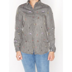 ALLOVER EMBROIDERED SHIRT 138411