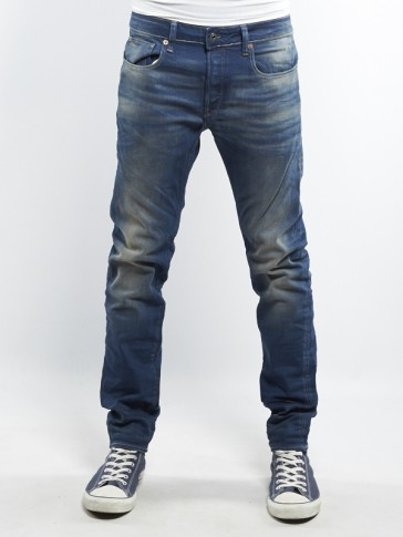 3301 SLIM-FIRRO DENIM-MEDIUM AGED