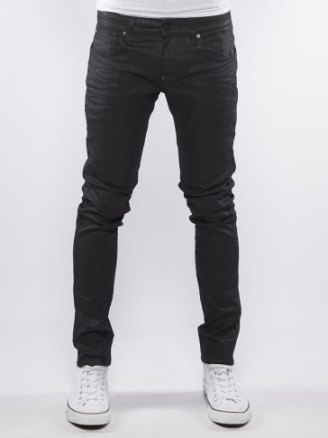 REVEND SUPER SLIM-BLACK PINTT STRETCH DENIM-3D DK