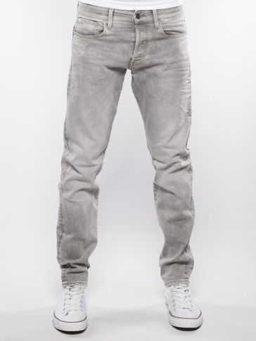 3301 TAPERED-KAMDEN GREY STRETCH DENIM-IT AGED