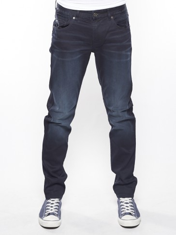 NIGHTFLIGHT BLUE BLACK STRETCH DENIM-WID