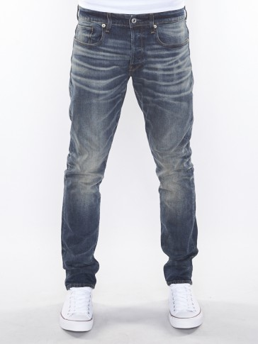 3301 TAPERED-OSATO STRETCH DENIM-MEDIUM AGED