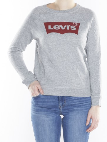 CLASSIC CREW SWEATSHIRT-FLEECE SMOKESTACK HEATHER