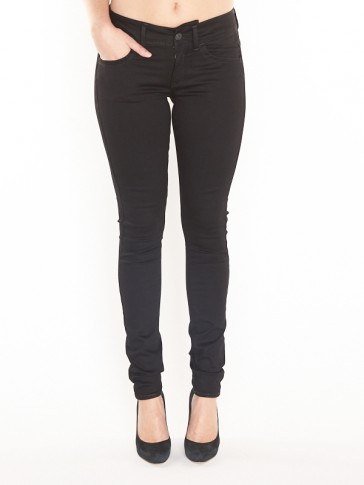 LYNN D-MID SUPER SKINNY-YIELD BLACK ULTIMATE STRETCH DENIM-RINSED