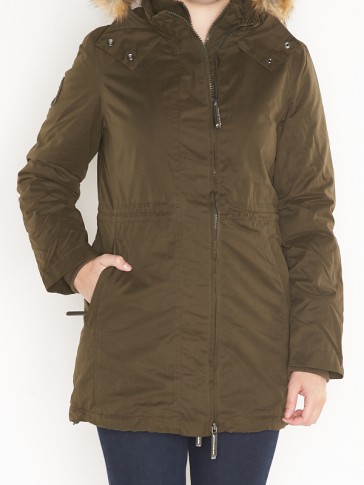 G50020YP HOODED MICROFIBRE PARKA
