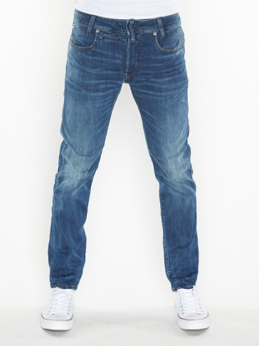 D-STAQ 3D 5 PKT SLIM-ELTO SUPERSTRETCH-MEDIUM INDIGO AGED
