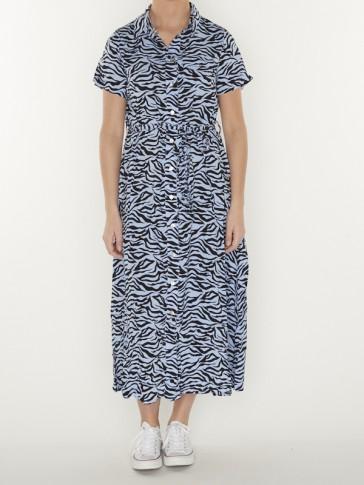 DALIA ZEBRA MAXI SHIRT DRESS