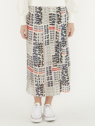 PRINTED SKIRT WITH PLEATS 155992