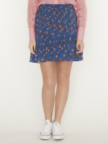 PRINTED SKIRT WITH PLEATS 156003