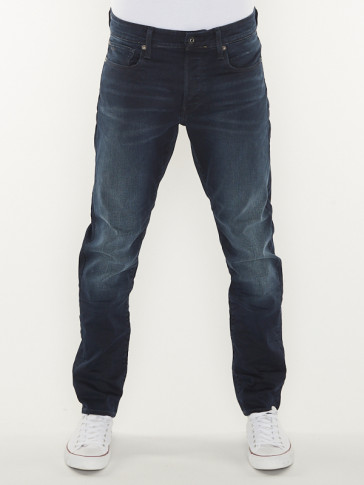 3301 STRAIGHT TAPERED-SLANDER INDIGO SUPERSTRETCH-DK AGED
