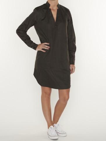 MILARY V-NECK SHIRT DRESS