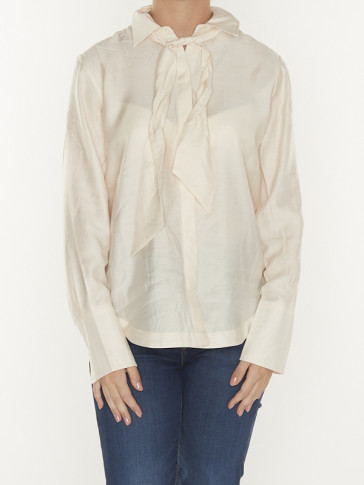 SHIRT WITH BOW AT NECK 158888