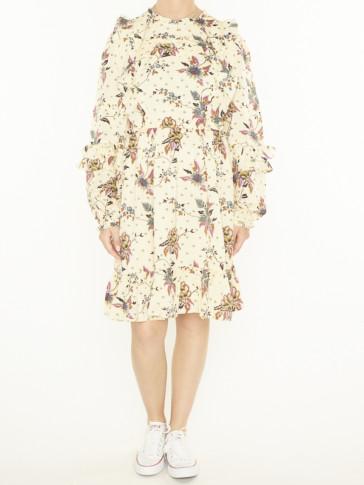 PRINTED RUFFLE DRESS 162536