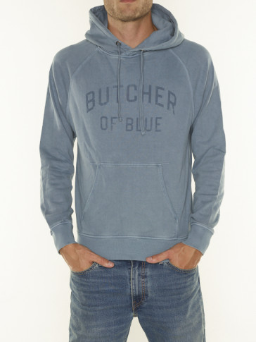 COLLEGE HOODED SWEAT LS