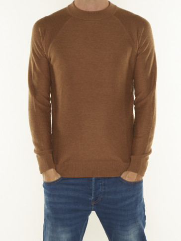 STRUCTURE-KNITTED RAGLAN SLEEVE PULLOVER 164010