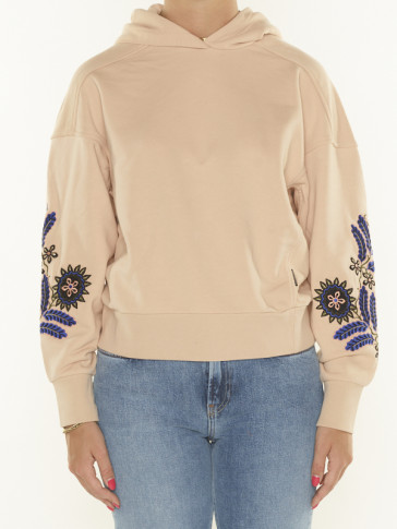 EMBROIDERED OVERSIZED HOODIE 163742
