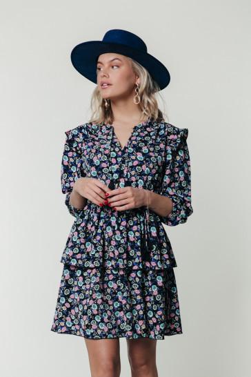 SAAR FLOWER MINI BELT DRESS