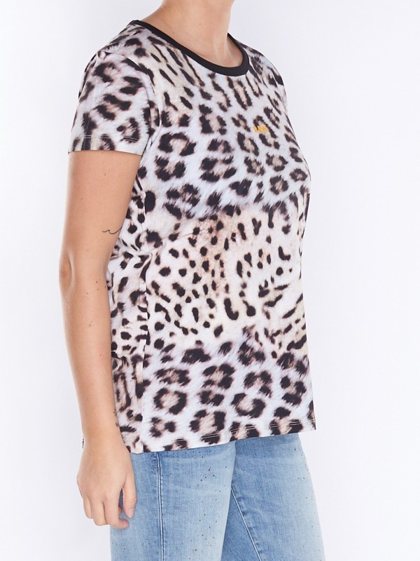 Leopard Straight T Shirt | Leopard Print | Women | G Star RAW®