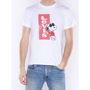 GRAPHIC SET-IN NECK 2-CNY SNOOPY REDTAP