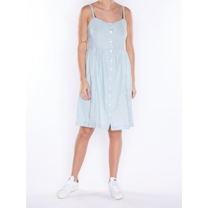 GENEVA DRESS-LIGHT MID WASH