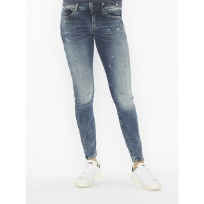 LYNN MID SKINNY-ELTO SUPERSTRETCH-VINTAGE MEDIUM AGED SMALL DESTROY
