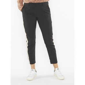 TAILORED STRETCH PANTS WITH A CONTRAST SIDE PANEL 146697