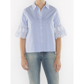 SHIRT WITH EMBROIDERED SLEEVE 144667