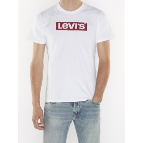 GRAPHIC SETIN NECK 2-LEVI'S LOGO WHITE