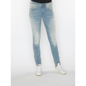 LYNN MID SKINNY-MAURO STRETCH DENIM- LT AGED