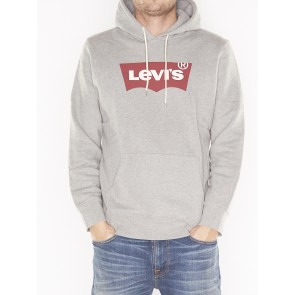 GRAPHIC PO HOODIE-MIDTONE HEATHER GREY