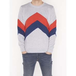 CREW NECK COLOR BLOCK SWEAT 133650