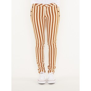 skinny fit striped pants- 149948